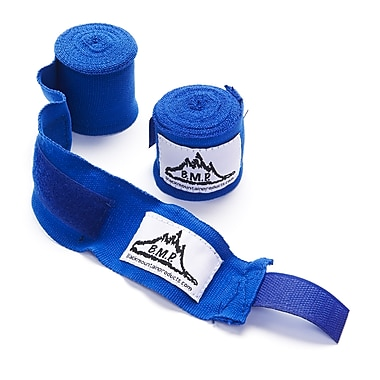 Black Mountain Products Professional Grade Boxing and MMA Hand Wrist Wraps, Blue