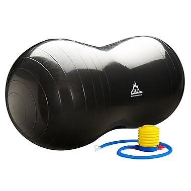 Black Mountain Products Peanut Stability Ball with Pump 1000 lb Static Weight Capacity, Black