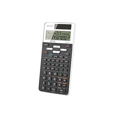 Sharp® – Calculatrice scientifique à affichage 2 lignes, 10 chiffres, 272 fonctions (EL531XTBWH)