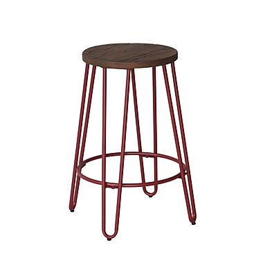 ACEssentials™ Quinn™ Counter Stool, Matte Red Finish (279401)
