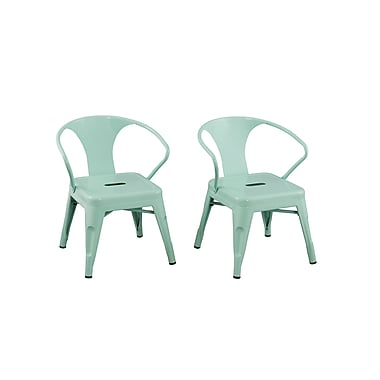ACEssentials™ Kids Chairs, Mint Green, 2/Pack (255201)