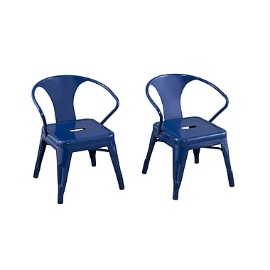 ACEssentials™ Kids Chairs, Navy, 2/Pack (255101)