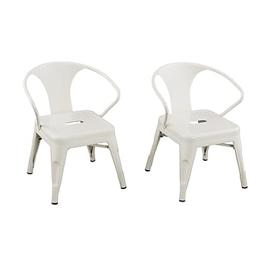 ACEssentials™ Kids Chairs, White, 2/Pack (255001)
