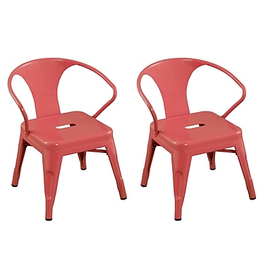 ACEssentials™ Kids Chairs, Pink, 2/Pack (255301)