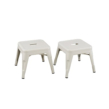 ACEssentials™ Kids Stools, White, 2/Pack (255601)