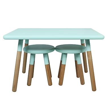 ACEssentials™ Kids Dipped Table Set, 2 Stools, Mint (153901)