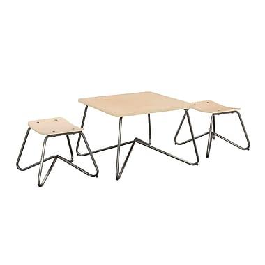 ACEssentials™ Kellan Kids Table Set, 2 Stools, Natural Metal (152901)