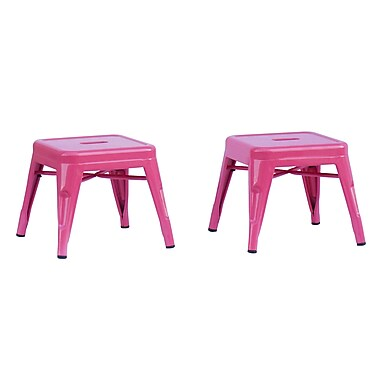 ACEssentials™ Kids Stools, Pink, 2/Pack (255701)