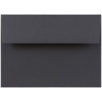 JAM Paper® A7 Invitation Envelopes, 5.25 x 7.25, Dark Grey, 50/pack (36396434I)