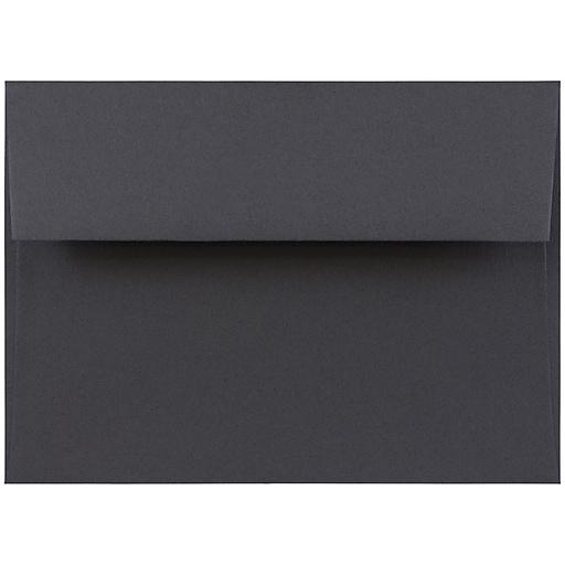JAM Paper® A7 Invitation Envelopes, 5.25 x 7.25, Dark Grey, Bulk 250/Box (36396434H)