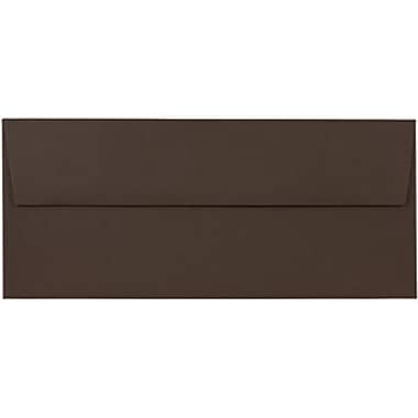 JAM Paper® #10 Business Envelopes, 4 1/8 x 9 1/2, Chocolate Brown Recycled, 500/box (233714H)