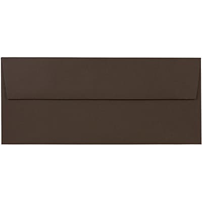 JAM Paper® #10 Business Envelopes, 4 1/8 x 9 1/2, Chocolate Brown Recycled, 25/pack (233714)