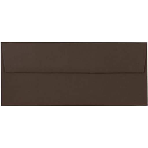 JAM Paper® #10 Business Envelopes, 4.125 x 9.5, Chocolate Brown Recycled, 50/Pack (233714I)