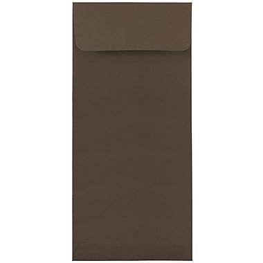 JAM Paper® #10 Policy Envelopes, 4 1/8 x 9 1/2, Chocolate Brown Recycled, 500/box (900940724H)