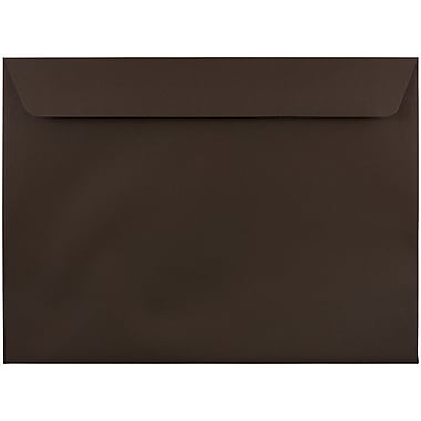 JAM Paper® 9 1/2 x 12 5/8 Booklet Envelopes, Chocolate Brown Recycled, 25/pack (233721)