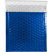 JAM Paper® CD Size Bubble Mailers with Peel and Seal Closure, 6 x 6.5, Blue Metallic, 12/pack (2745203)