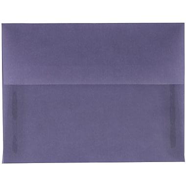 JAM Paper® A2 Invitation Envelopes, 4 3/8 x 5 3/4, Wisteria Purple Translucent Vellum, 25/pack (PACV604)