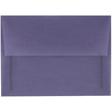 JAM Paper® A6 Invitation Envelopes, 4.75 x 6.5, Wisteria Purple Translucent Vellum, 250/box (PACV654H)