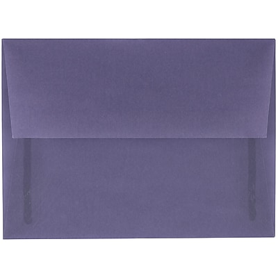 JAM Paper® A6 Invitation Envelopes, 4.75 x 6.5, Wisteria Purple Translucent Vellum, 250/box (PACV654H)