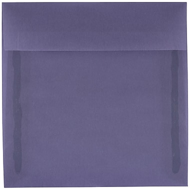 JAM Paper® 5.5 x 5.5 Square Envelopes, Wisteria Purple Translucent Vellum, 25/pack (PACV504)