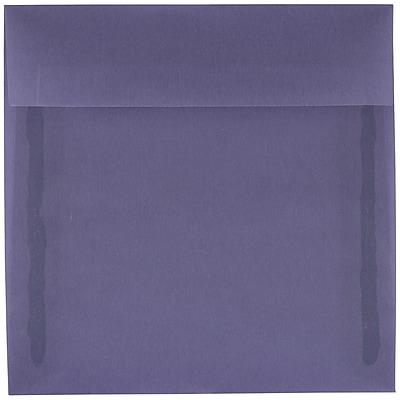 JAM Paper® 5.5 x 5.5 Square Envelopes, Wisteria Purple Translucent Vellum, 25/pack (PACV504)