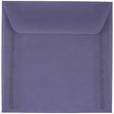 JAM Paper® 6 x 6 Square Envelopes, Wisteria Purple Translucent Vellum, 50/pack (PACV514I)