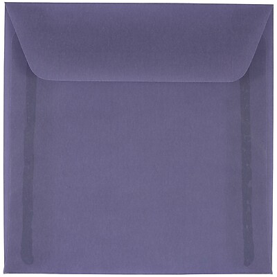 JAM Paper® 6 x 6 Square Envelopes, Wisteria Purple Translucent Vellum, 250/box (PACV514H)