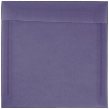 JAM Paper® 8.5 x 8.5 Square Envelopes, Wisteria Purple Translucent Vellum, 25/pack (1592157)