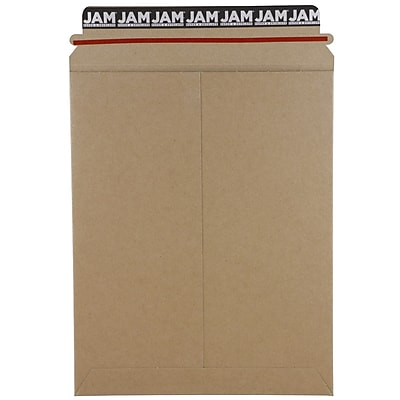 JAM Paper® Photo Mailer Stiff Envelopes with Self Adhesive Closure, 9 x 11.5, Brown Kraft Recycled, 6/Pack (8866643B)
