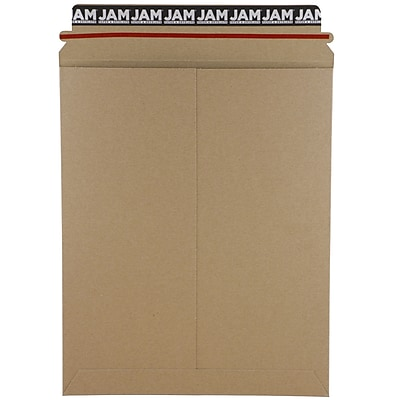 JAM Paper® Photo Mailer Stiff Envelopes, Self Adhesive Closure, 9.75 x 12.25, Brown Kraft Recycled, Sold Individually (8866642)