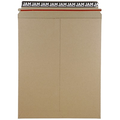 JAM Paper® Photo Mailer Stiff Envelopes with Self Adhesive Closure, 11 x 13.5, Brown Kraft Recycled, Sold Individually (8866644)