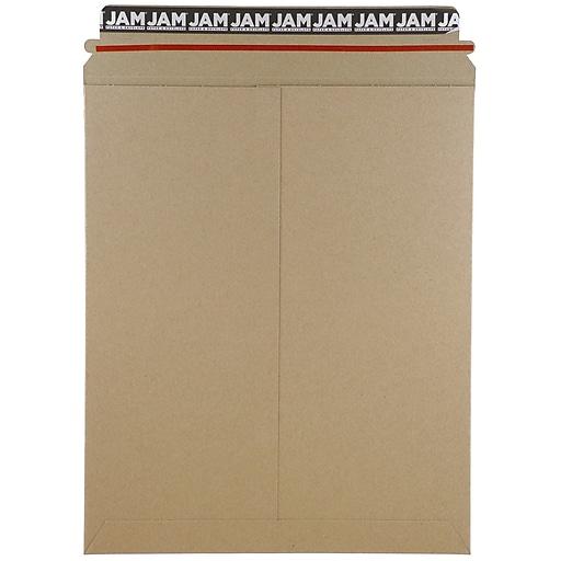 JAM Paper® Stay-Flat Photo Mailer Envelopes, 11 x 13.5, Brown Kraft, Self-Adhesive Closure, Sold Individually (8866644)