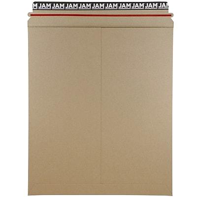 JAM Paper® Photo Mailer Stiff Envelopes, Self Adhesive Closure, 12.75 x 15, Brown Kraft Recycled, Sold Individually (8866645)