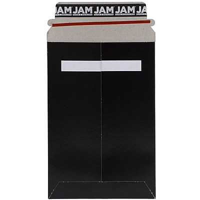 JAM Paper® Photo Mailer Stiff Envelopes with Self Adhesive Closure, 6 x 9, Black, Sold Individually (514412114)