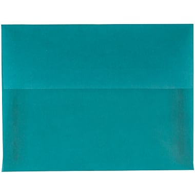 JAM Paper® A2 Invitation Envelopes, 4 3/8 x 5 3/4, Aqua Blue Translucent Vellum, 250/box (1591674AH)