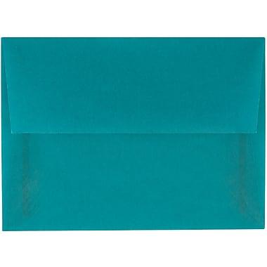 JAM Paper® A6 Invitation Envelopes, 4.75 x 6.5, Aqua Blue Translucent Vellum, 50/pack (PACV664I)
