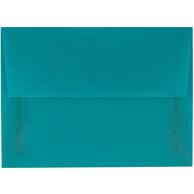 JAM Paper® A6 Invitation Envelopes, 4.75 x 6.5, Aqua Blue Translucent Vellum, 25/pack (PACV664)