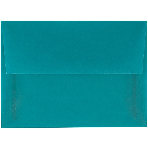 JAM Paper® A6 Translucent Vellum Invitation Envelopes, 4.75 x 6.5, Aqua Blue, 25/Pack (PACV664)