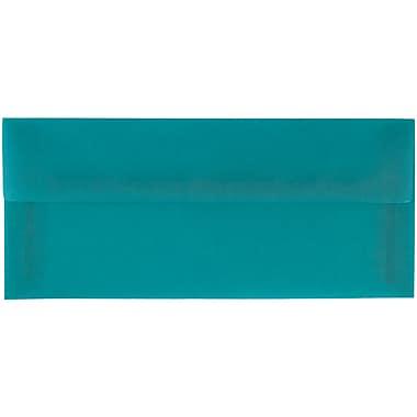JAM Paper® #10 Business Envelopes, 4 1/8 x 9 1/2, Aqua Blue Translucent Vellum, 50/pack (PACV364I)