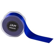 JAM Paper® Double Faced Satin Ribbon, 1.5 Inch Wide x 25 Yards, Royal Blue, Sold Individually (808SAROBU25)