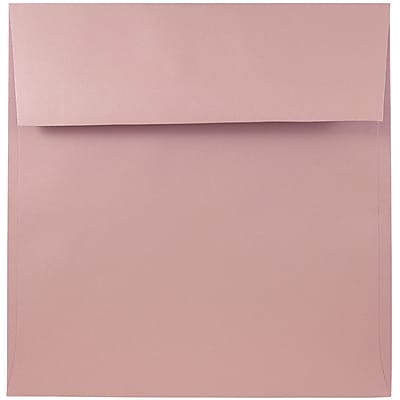 JAM Paper® 6.5 x 6.5 Square Envelopes, Baby Pink, 25/pack (327912965)