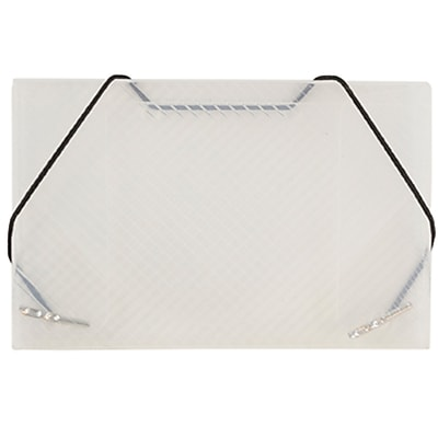 JAM Paper® Plastic Business Card Case, Clear Grid, Sold Individually (2500 001)