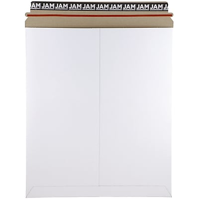 JAM Paper® Photo Mailer Stiff Envelopes with Self Adhesive Closure, 12.75 x 15, White Recycled, 6/pack (4PSWB)
