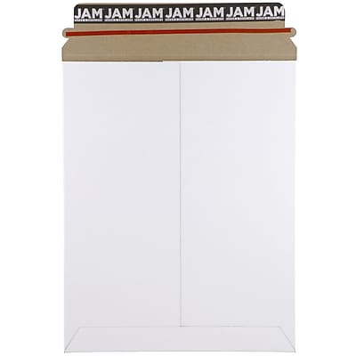 JAM Paper® Photo Mailer Stiff Envelopes with Self Adhesive Closure, 9.75 x 12.25, White, 6/Pack (5PSWB)
