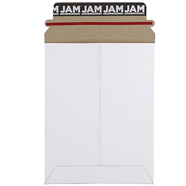 JAM Paper® Photo Mailer Stiff Envelopes with Self Adhesive Closure, 6 x 8, White, 6/Pack (1PSWB)