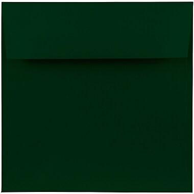 JAM Paper® 7.5 x 7.5 Square Envelopes, Dark Green ,1000/carton (31512719b)