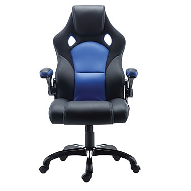 Staples Luxura Racing Chair, Blue (51477-CA)