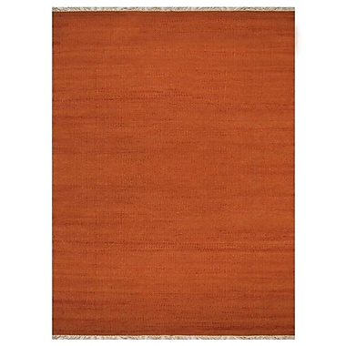Bloomsbury Market Cotulla Contemporary Hand-Woven Wool Dark Orange Area Rug; 3' x 5'