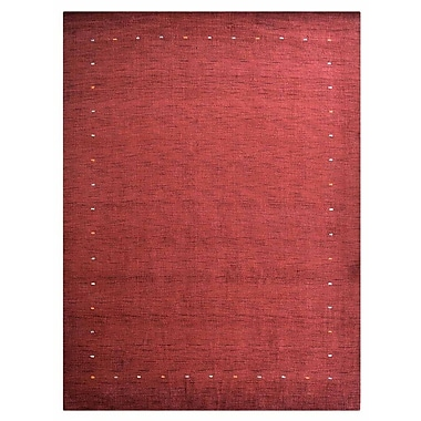 Bloomsbury Market Coyote Ridge Contemporary Hand-Knotted Wool Red Area Rug; 6' 7'' X 9' 10''