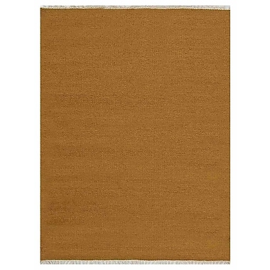 Bloomsbury Market Creasman Contemporary Hand-Woven Wool Gold Area Rug; 7' x 9'
